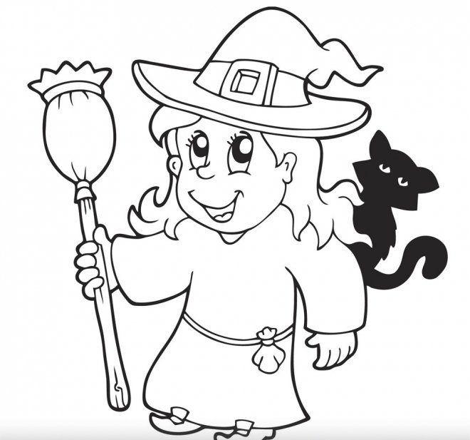 Dibujos De Halloween Para Colorear Faciles E1540126098248 Halloween Para Colorear Dibujos De Halloween Bruja Para Colorear