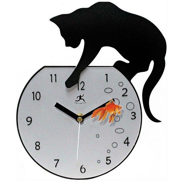 fresh idea whimsical clocks. Cat with Goldfish 14 1 4  High Wall Clock 90 liked 11 best It s Laser Time Clocks images on Pinterest Pendulum