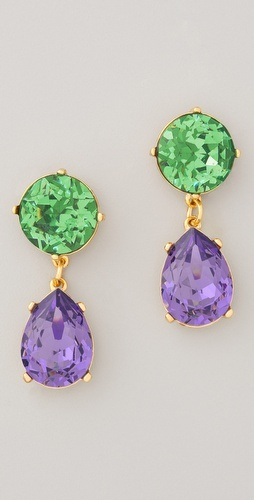 Kenneth Jay Lane Gemstone Teardrop Earrings - oh my gosh these are fabulous!