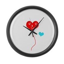 Big and small hearts Large Wall Clock  #hearts #red #blue #love #valentinesday #two #valentine #homedecor #homedesign #gift #clock #wall #walldecor #wallhanging #livingroom #bedroom #kitchen