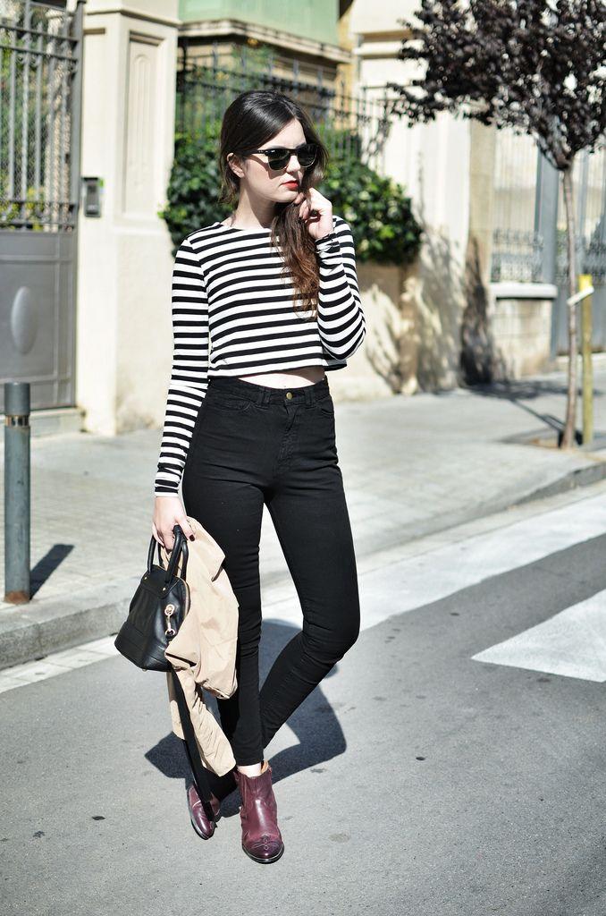 Crop top, stripes