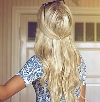 Simple Half Up - Hairstyles and Beauty Tips