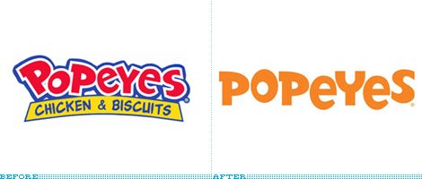 Popeyes logo evolution