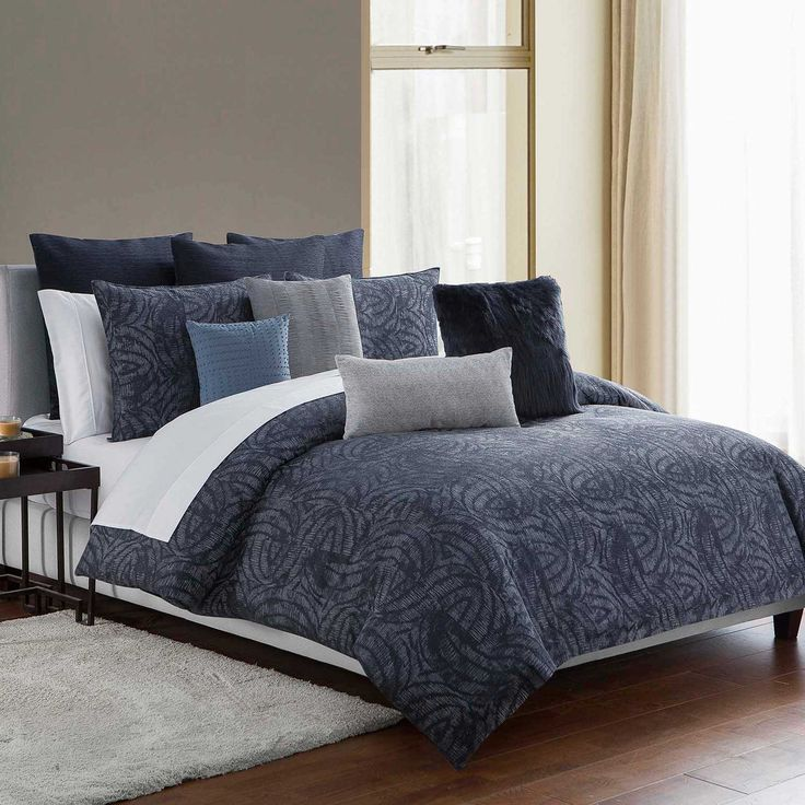 Highline Bedding Co Jakarta King Comforter Set In Indigo