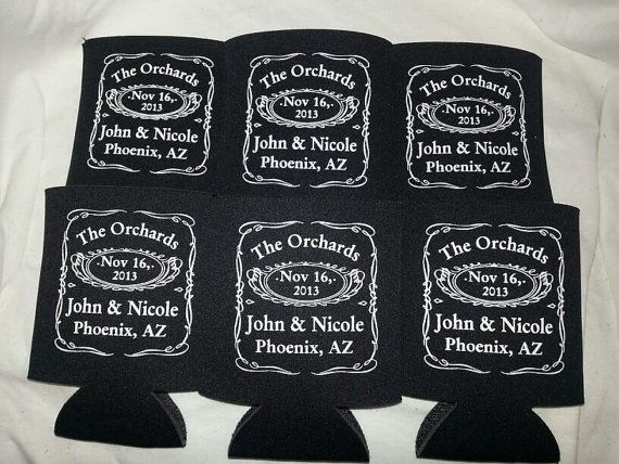 Jack Daniels Wedding Koozies Personalized by odysseycustomdesigns, $139.99