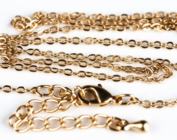 2457_Chain with clasp 1.8x2 mm, Necklace chain gold, Gold finished chain, Oval link chain, Belcher chain, Gold plated оewelry chain_1 pc. by PurrrMurrr on Etsy