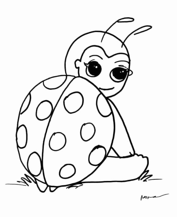 Lady Bug Coloring Page New Ladybug Coloring Page Ladybug Coloring Page Bug Coloring Pages Cartoon Coloring Pages