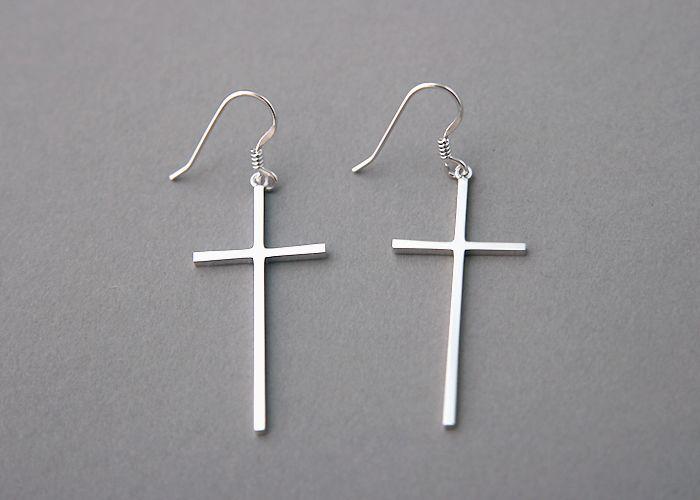 Sterling Silver Cross Dangle Earrings In 2018 Jewelry Pinterest And