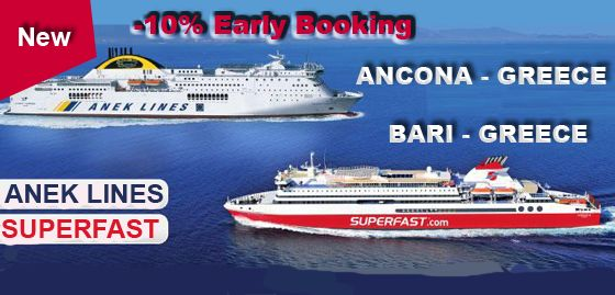 10% #EarlyBooking discount for #FerryCrossings Italy Greece with #ANEK #Superfast