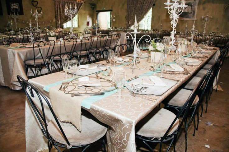 Tables. Décor. Die Akker Wedding venue