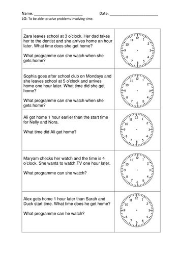 Time Worksheets time worksheets one hour later : 17 Best images about Year 1 Resources on Pinterest | Assessment ...