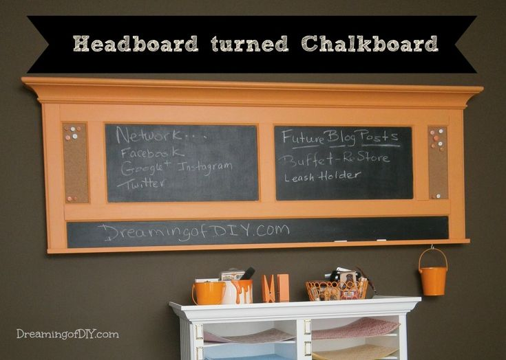 Habitat ReStore Chalkboard Message Memo Center from Headboard DIY