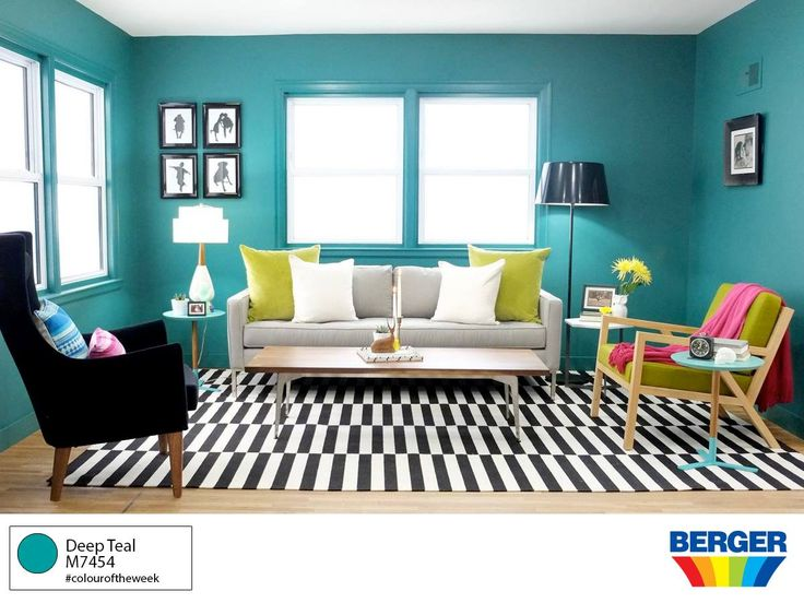 Invite the colours of nature inside with Deep Teal M7454 from the #BergerPaintsCaribbean  #Spectra colour collection. The colour of the Caribbean Sea is a constant and calming influence in our world.
