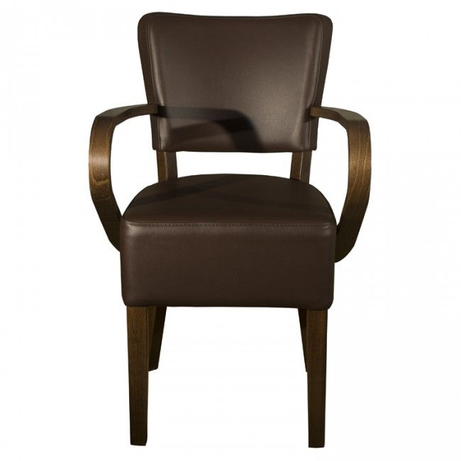 Brown Faux Leather Chair Sessel Stuhle Leder