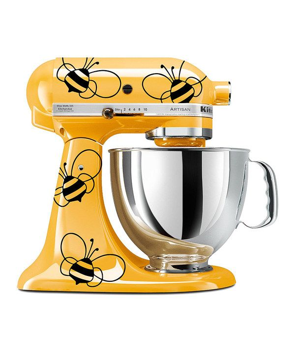 DWDesign8 Black Vinyl Bumblebee KitchenAid Mixer Decal