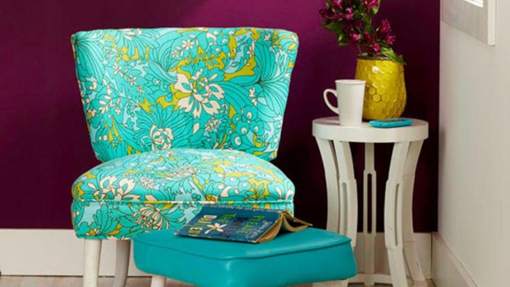 Furnishings with good bones but bad skin can be easily updated with fresh fabric. This chair reupholstery project shows you basic techniques to get your furniture looking fashionable. #ReupholsterChair