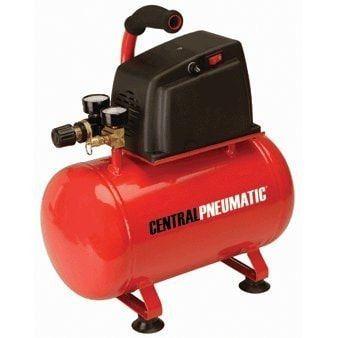 Central Pneumatic 1/3 Horsepower, 3 Gallon, 100 PSI PSI Oilless Air Compressor
