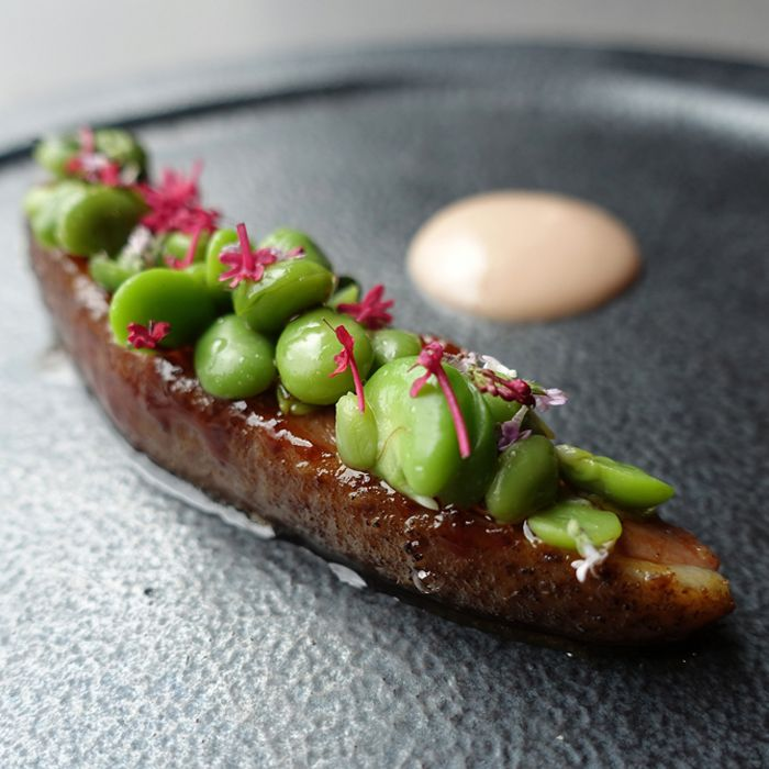 O.MY Restaurant Aged Duck Breast, Broad Beans