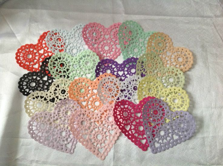 'XCut Filigree Heart PAPER Doilies' - *** PLEASE READ LISTING*** in Crafts, Cardmaking & Scrapbooking, Die-Cut Shapes & Punchies | eBay