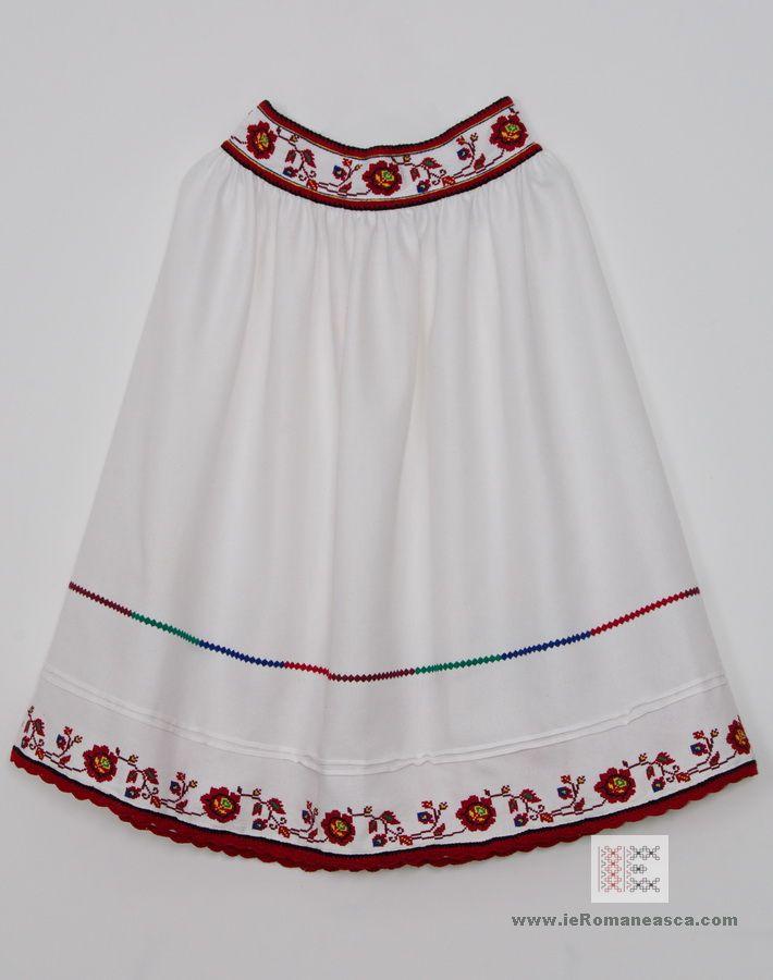 Hand stictceh Romanian traditional skirt from Oas area - Romanian Blouse - Folk costume - ie romaneasca - vyshyvanka - boho style - ethnic bohemian fashion worldwide shipping #vyshyvanka #romanianblouse #ia #ieromaneasca #bohostyle #bohemian #fashion #embroidery #handmade