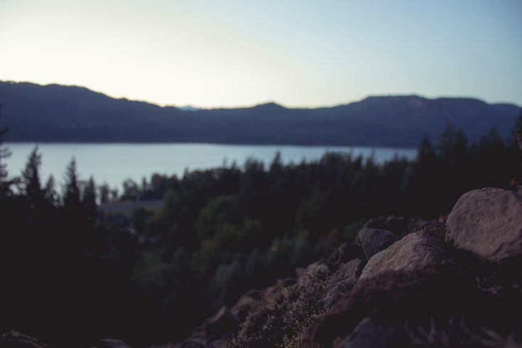 [HD] Wallpaper: A lake encircled by a forest partially obscured by brown rocks in the foreground - #Create #Unity #Blender #LowPoly 3D computer graphics, 3D modeling, Learning, Video game  - Photo by Michael Hull @michaelhull (unsplash)  - Follow #extremegentleman for more pics like this!