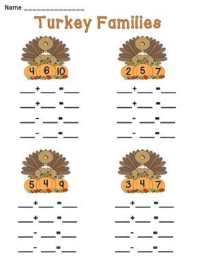 1000+ images about Math-Fact Families ideas on Pinterest