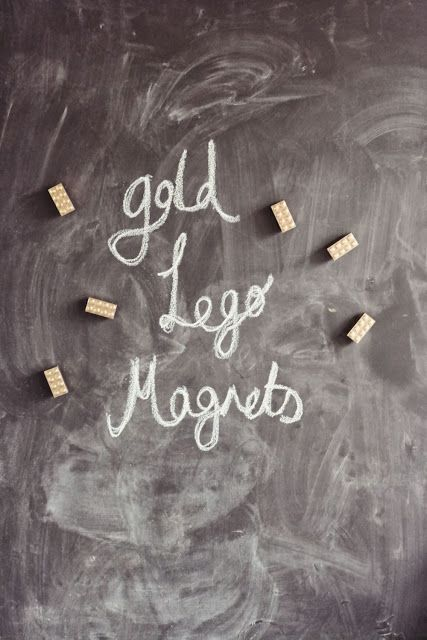 DIY gold Lego magnets | She's called Claire