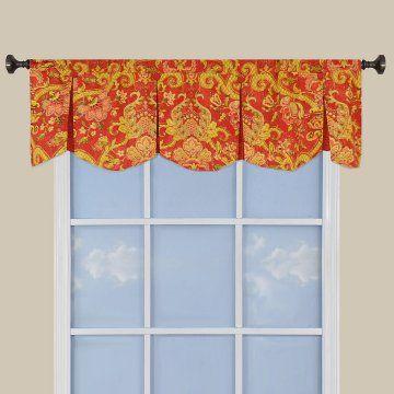 urn inverted pleated window valance scalloped valances at