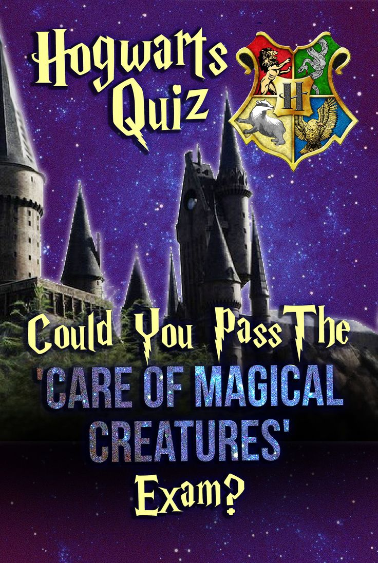 Hogwarts Quiz Could You Pass The 'Care Of Magical