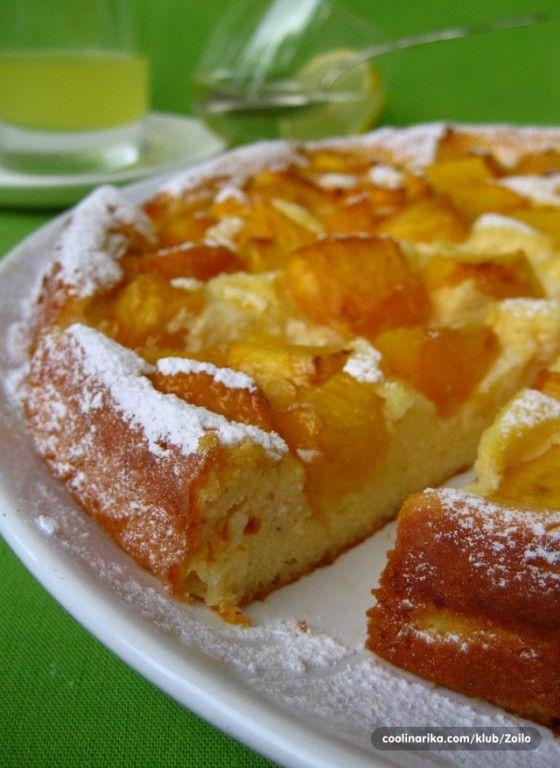 Fantastický ovocný koláč z tvarohového cesta