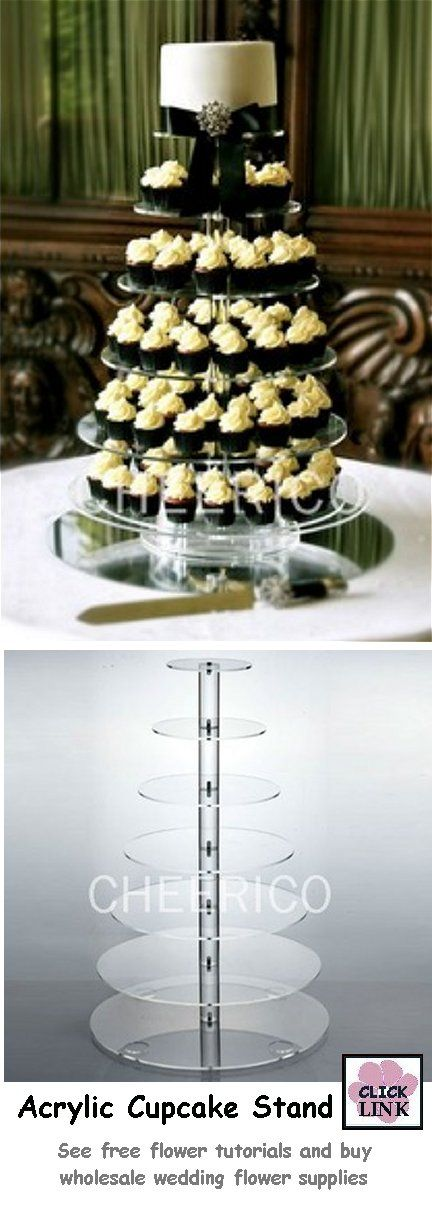 7 tier acrylic #Wedding #Cupcake #Stand