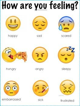 Emoji Feelings Poster And Think Sheet Feelings Think