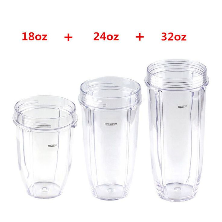 3Pcs/Set Cup Parts For Nutri Ninja Blender 900W 1000W 18Oz 24Oz 32Oz Juice Cup
