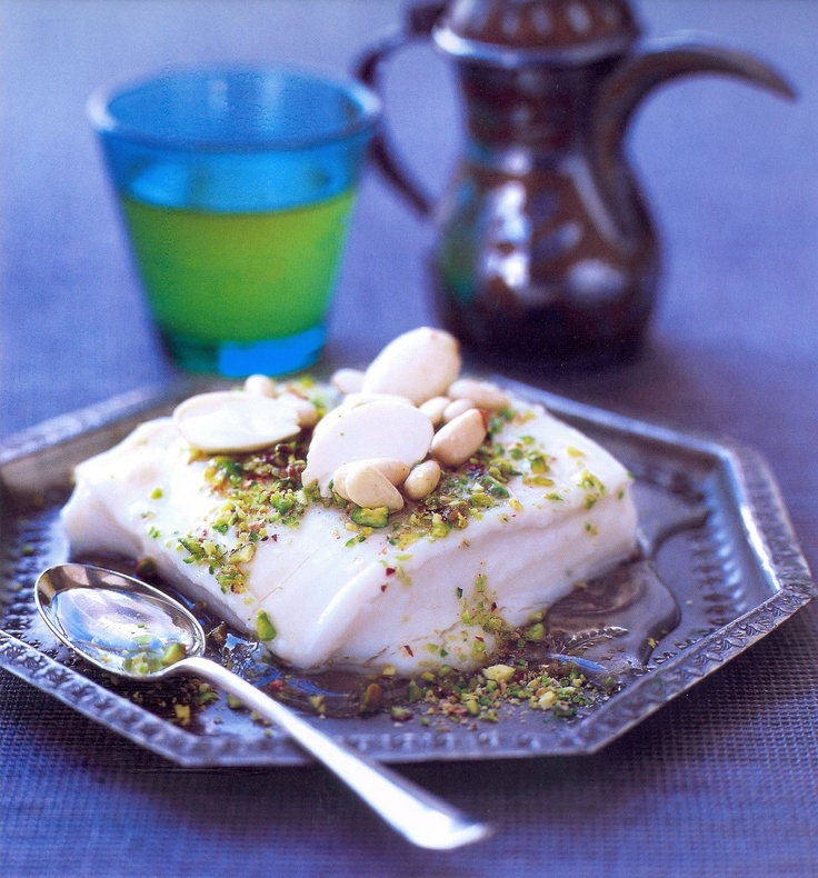 ASHTALIEH | Lebanese Cream Pudding // #recipe from 'The Lebanese Cookbook' by Hussien Dekmak, via Hippocrene Cooks; #MiddleEastern #food (dessert)