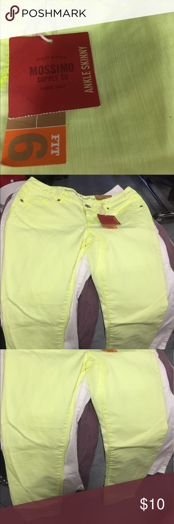 Mossimo skinny ankle length neon jeans New with tags Mossimo Supply Co. Jeans Ankle & Cropped
