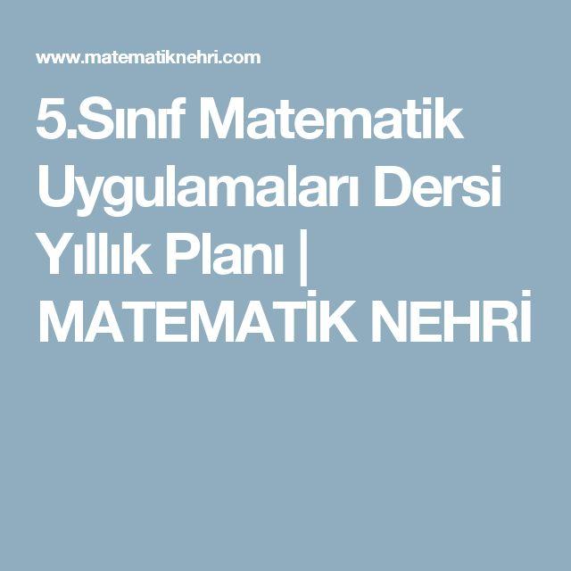 5.Sınıf Matematik Uygulamaları Dersi Yıllık Planı | MATEMATİK NEHRİ