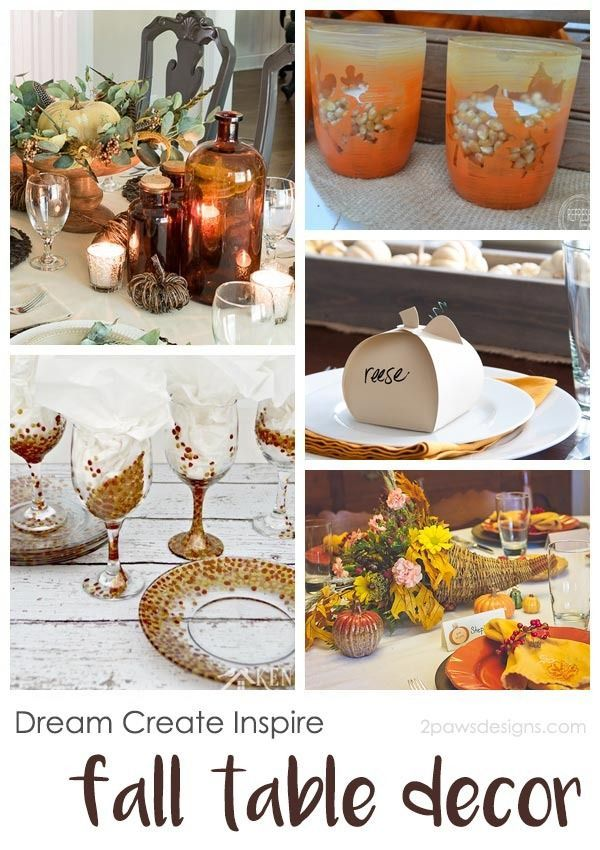 These fall table decorations are perfect for everyday as well as Thanksgiving. From simple to elegant, there is an idea to compliment every style.