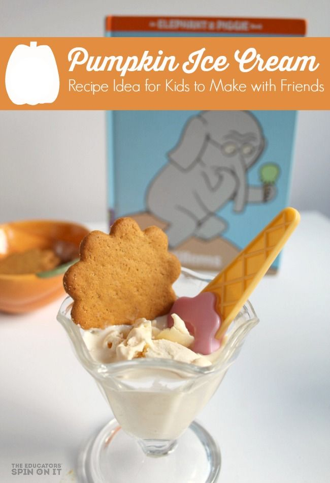 Making Pumpkin Ice Cream with Kids for Fall with Friendship.  See how easy it is to make, even the kids can make this fun pumpkin ice cream recipe.