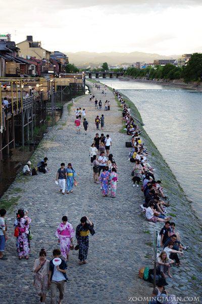 Kamogawa River in summer Kyoto | Japan