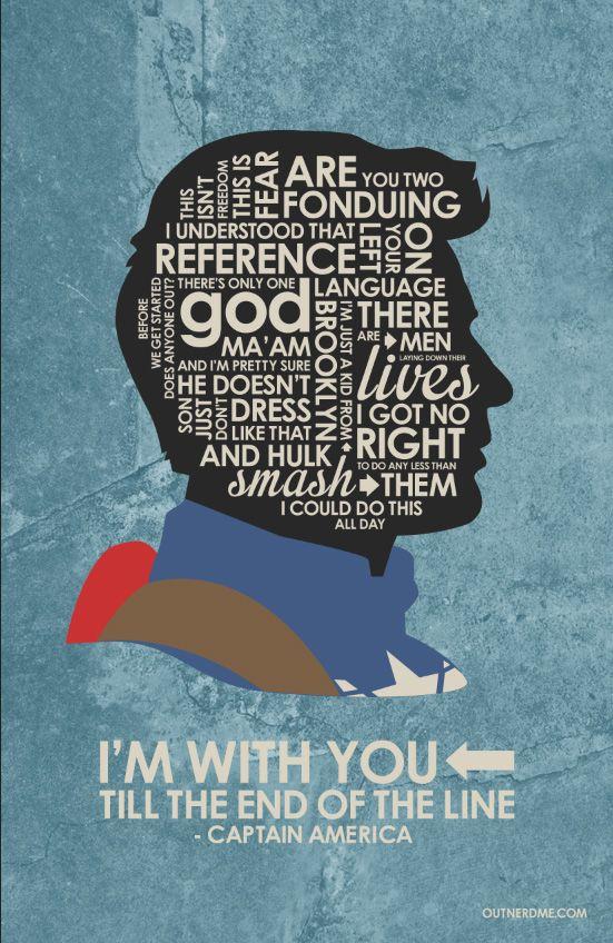Captain America Inspired Quote Poster chrisevans