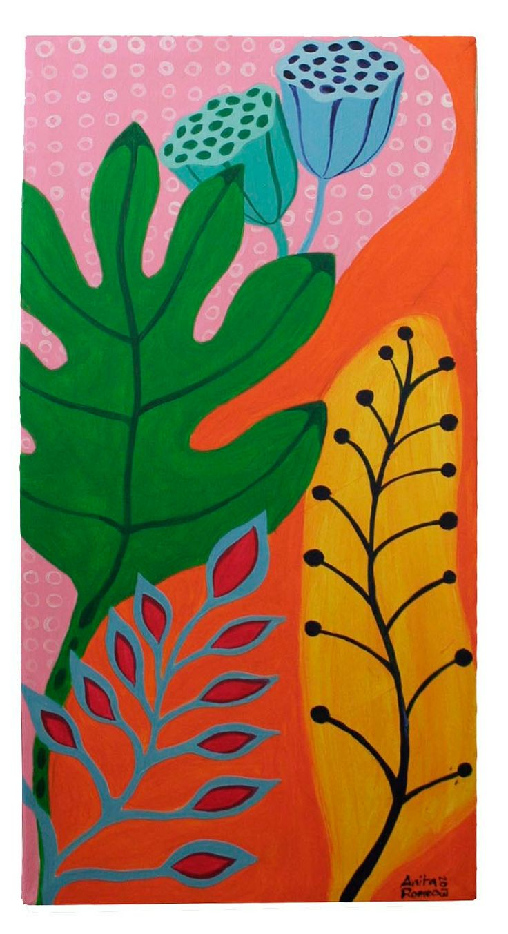 Leaves - Acrilic on canvas by Anita Romeo