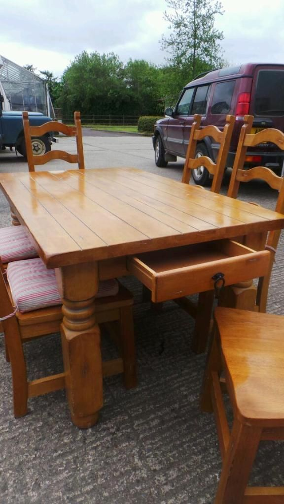 dining room furniture gumtree belfast. farmhouse style pine chunky table and chairs | dunmurry, belfast gumtree dining room furniture