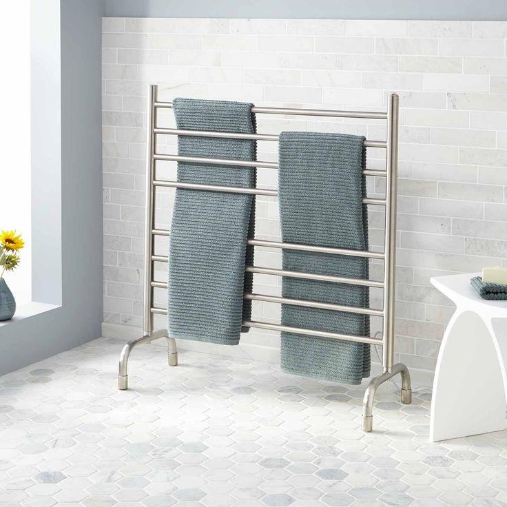 "33"" Contemporary Freestanding Plug-In Towel Warmer"