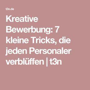 Kreative Bewerbung: 7 kleine Tricks, die jeden Personaler verblüffen | t3n