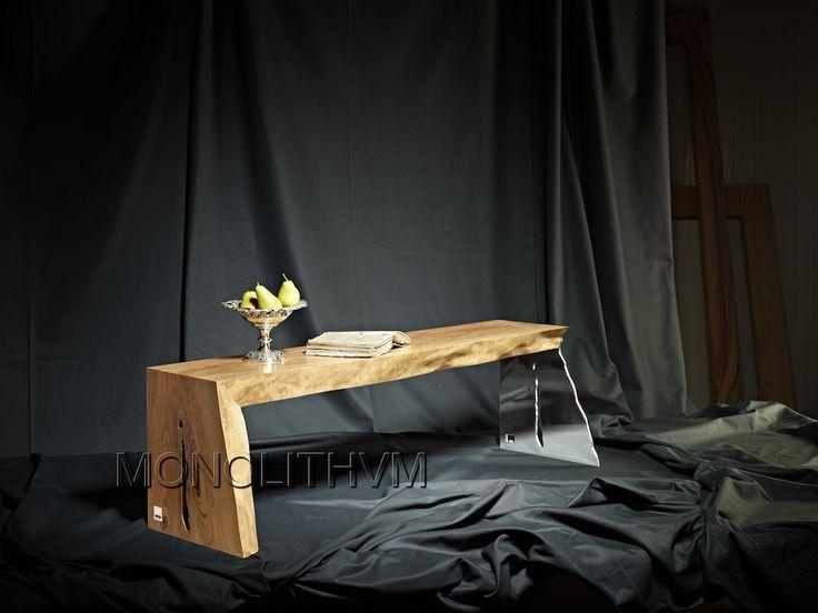16th century italian olive wood bench by monolithvm
