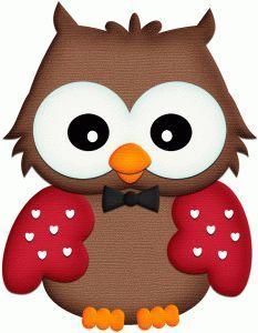 Silhouette Online Store: coruja w coração asas pnc