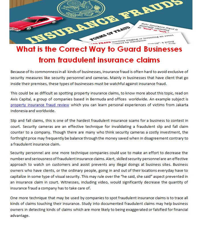 What Is The Correct Way To Guard Businesses From Fraudulent Insurance Claims Http Www Lifebeyondtourism Org M Group Insurance Insurance Claim Fraud