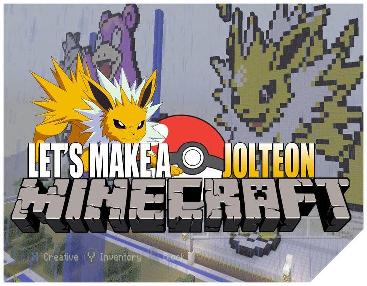 "Minecraft Gameplay Let's Play How To Build Pokemon Jolteon ""Minecraft Timelapse"" Xbox One Pixel Art"