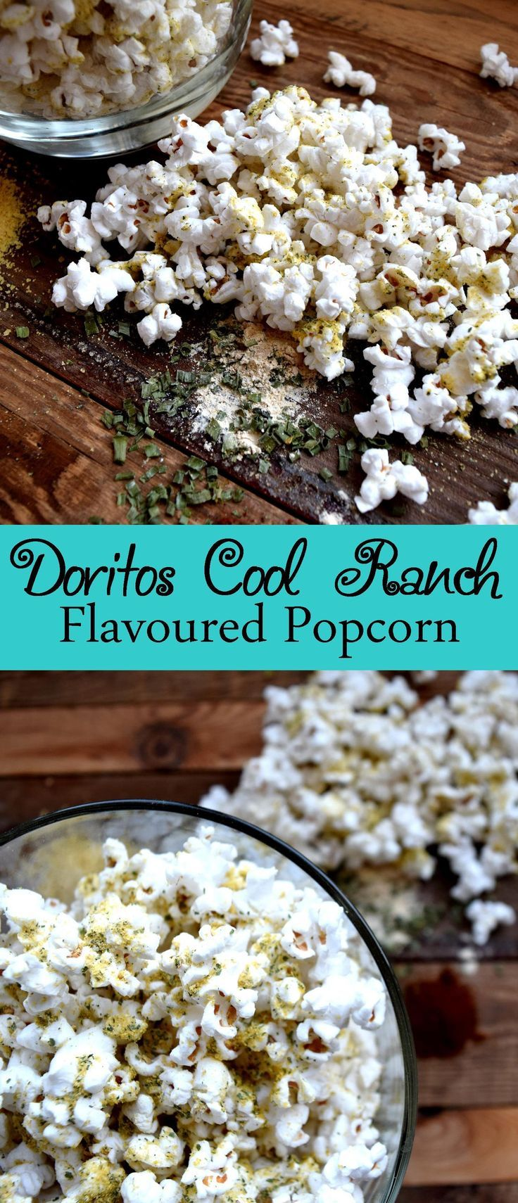Doritos Cool Ranch Flavoured Popcorn! This is a good and healthier alternative to your usual Doritos snack!