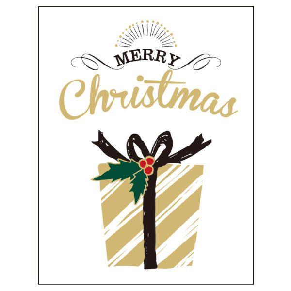 Greeting Life Letter press Christmas Mini Card HT-63